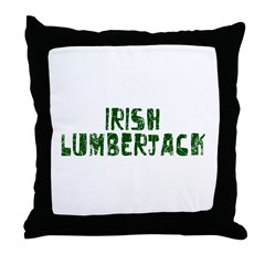Irish Lumberjack Throw Pillow