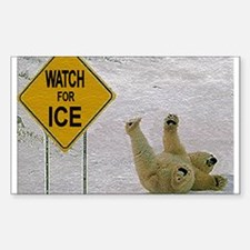 Watch for Ice Rectangle Decal