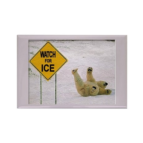 Watch for Ice Rectangle Magnet (10 pack)