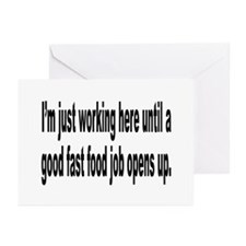 Just Working Here Humor Greeting Cards (Pk of 10)