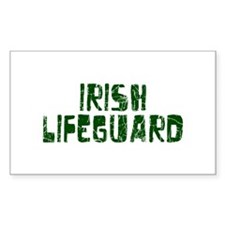 Irish Lifeguard Rectangle Decal