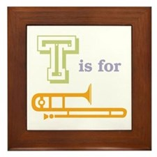 Tis for Trombone Framed Tile