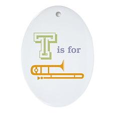 Tis for Trombone Oval Ornament