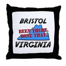 bristol virginia - been there, done that Throw Pil