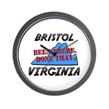 bristol virginia - been there, done that Wall Cloc