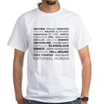 Rational Human White T-Shirt