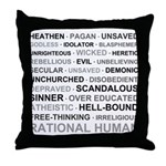 Rational Human Throw Pillow