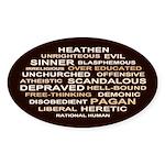 Rational Human Oval Sticker