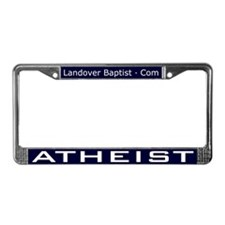 Funny Jesus was a liberal License Plate Frame