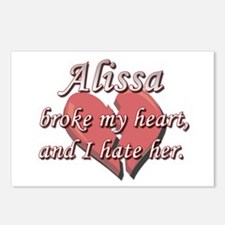 Alissa broke my heart and I hate her Postcards (Pa