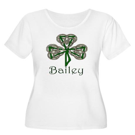 Bailey Shamrock Women's Plus Size Scoop Neck T-Shi