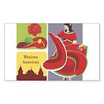 Mexico Rectangle Sticker 50 pk)