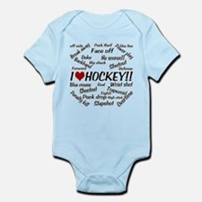 I Love Hockey Infant Bodysuit