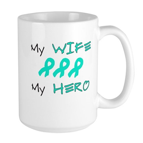 Hero Wife Teal Large Mug