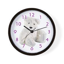 WHITE CUTE Wall Clock/10inch