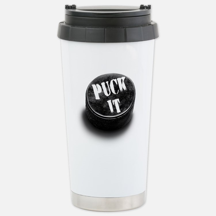 Cute Boys hockey goalie Travel Mug