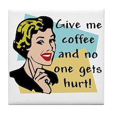 Coffee Freak Tile Coaster
