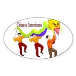 Chinese Oval Sticker (10 pk)