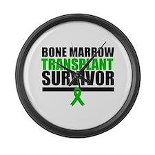 BoneMarrowTransplantSurvivor Large Wall Clock
