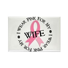 I Wear Pink For My Wife 38 Rectangle Magnet