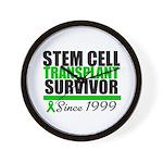 SCT Survivor Green Ribbon Wall Clock