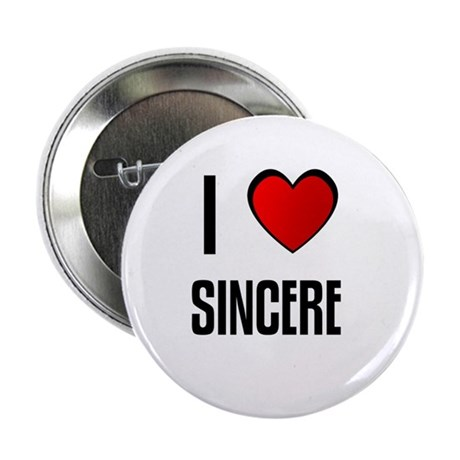 "I LOVE SINCERE 2.25"" Button (100 pack)"