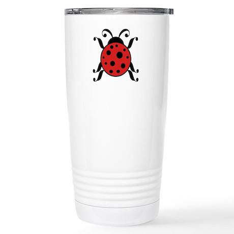 Adorable Ladybug Stainless Steel Travel Mug