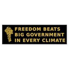 Freedom Beats Big Government Bumper Bumper Sticker