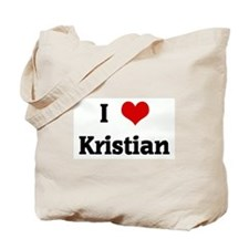 I Love Kristian Tote Bag