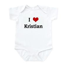 I Love Kristian Infant Bodysuit