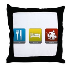 Eat, Sleep, Goalie Throw Pillow