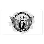 Vegan Wings Rectangle Sticker 50 pk)