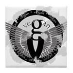 Vegan Wings Tile Coaster