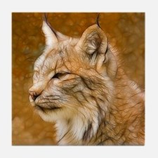 Fractalius Lynx Tile Coaster