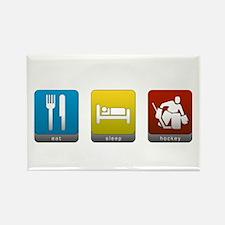 Eat, Sleep, Hockey Rectangle Magnet