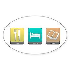 Eat, Sleep, Read Oval Decal