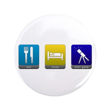 "Eat, Sleep, Stargaze 3.5"" Button"