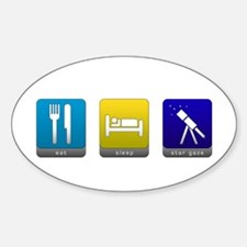 Eat, Sleep, Stargaze Oval Decal
