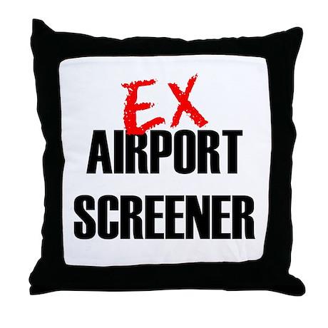 Ex Airport Screener Throw Pillow