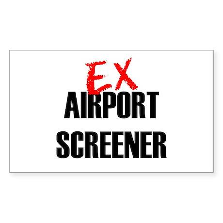Ex Airport Screener Rectangle Sticker
