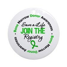 BoneMarrowDonor SaveLife Ornament (Round)