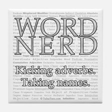 Word Nerd Tile Coaster