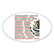 Mexico Lindo Oval Decal