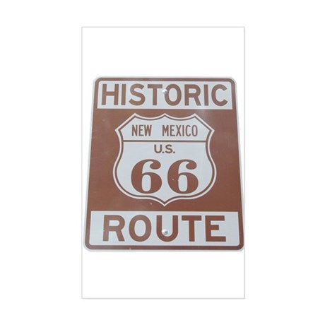 Rt. 66 New Mexico Rectangle Sticker