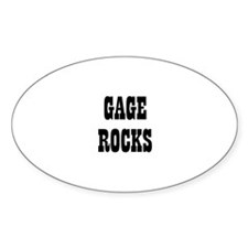 GAGE ROCKS Oval Decal
