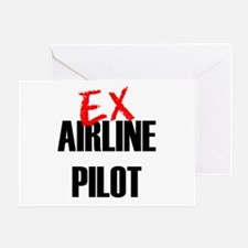 Ex Airline Pilot Greeting Card