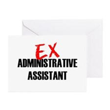 Ex Administrative Assistant Greeting Cards (Pk of