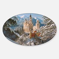 Neuschwanstein Castle Oval Decal