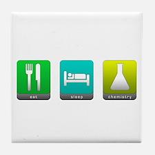 Eat, Sleep, Chemistry Tile Coaster