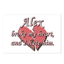 Alex broke my heart and I hate him Postcards (Pack